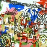 "Resurrection, acrylic on canvas, 66"" x 84"", 2006"