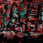 "Perseverance, acrylic on canvas, 53.5"" x 133.5"", 2006"