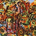 """Hope, acrylic on canvas, 38"""" x 60"""", 2006"""