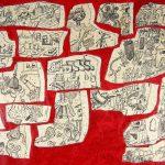 """Artichoke, ink on paper, 24"""" x 36"""", 2004"""