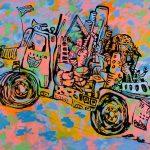 "Aspiration, acrylic on canvas, 66"" x 84"", 2005"