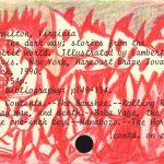 """Baba Yaga, drawing on library catalog card, 3"""" x 5"""", 2007"""