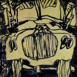 "Crisis Management, acrylic on canvas, 48"" x 48"", 2008"