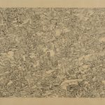 "Topography, drawing, 24"" x 36"", 1976"