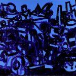 "Dug In, acrylic on canvas, 38"" x 60"", 2008"