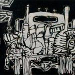 """Forbearance, acrylic on canvas, 54 """"x 76"""", 2009"""