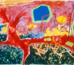 "Gary Indiana , acrylic on canvas, 102"" x 774"", 2002"