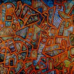 "Illinois Central, acrylic on canvas, 66"" x 84"", 1995"