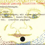 "Jean Paul Klee, drawing on library catalog card, 3"" x 5"", ©2007"
