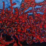 "Juggernaut, acrylic on canvas, 60"" x 72"", 2010"