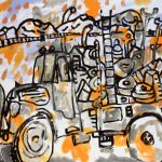 "Loyalty, acrylic on canvas, 38"" x 54"", 2007"