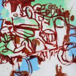 """Optimist, acrylic on canvas, 47"""" x 59"""", 2011"""