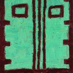 """PV46, acrylic on MDO plywood, 16"""" x 12"""","""