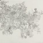 "Percolator, 2013, ink on paper, 18.5"" x 25"""
