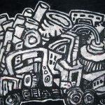 """Revelation, acrylic on canvas, 38 """"x 60"""", 2009"""