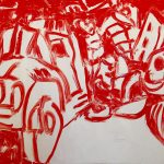 "Revolution, acrylic on canvas, 44"" x 68"", 2008"