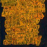"""Speech Draft, ink & acrylic on rice paper, 25.5""""x19"""", 2000"""