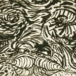 "Up Front, woodcut, 31"" x 42.5"", 1986"