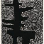 """Aluminum #1 , woodcut, 21.25"""" x 19.25"""", 2007"""