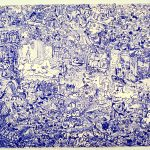 "Blue Bird, 1975, lithograph, 18"" x 24"", ed. 50"