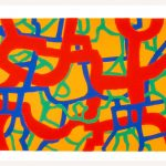 "Crinkum, 1997, screenprint, 28.5"" x 41"""