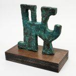 "Proposal, bronze, 10.5"" x 11"" x 1"", 2003"