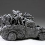 "Engine No. 1, 2007, cast iron, 12.5"" x 23"" x 11.25"""