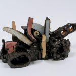 "Lander, 2008 ,ceramic, 6.5"" x 15"" x 9"""