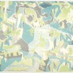 "Moving Shadows, 1971, lithograph, 15"" x 20"", ed. 50"