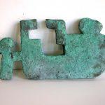 """Recliner, bronze, 9"""" x 18"""" x 1"""", 2003"""