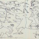 "Skateboard, 1976, lithograph, 8.5"" x 10"", ed. 10"