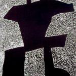 "Sway, woodcut, 2007, 96"" x 47.75"""