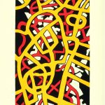 "Whiz-Bang, 1998, screenprint, 41"" x 28.5"""