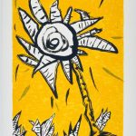 "Yellow Rose, 1992, screenprint, 41""x 28.5"""