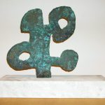 "Charm, bronze, 14"" x 13.5 "" x 1"", 2003"