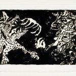 "Bone, 1982, lithograph, 18.5"" x 34"" ed. 25"