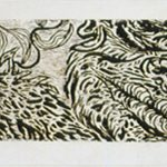 "Lengthy Meeting, 1986 and 1990, woodcut, 32"" x 104"""