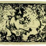 """Trio, lithograph,1982, 25"""" x 32"""""""